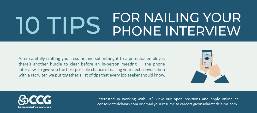 10 Tips for Nailing Your Phone Interview